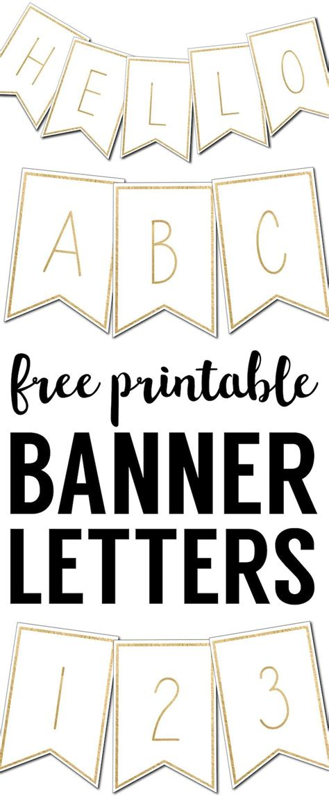printable gold banner free printable banner letters templates printable banner
