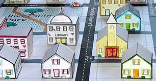 create a 3d town & nurture young explorers