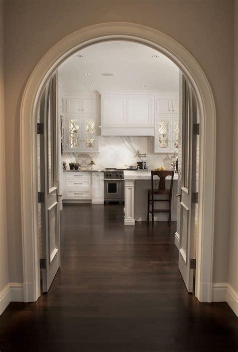 Kitchen Door Arch Design Curved Crown Molding Transitional Kitchen Caden