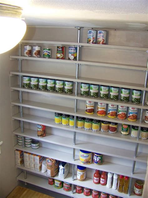 pantry shelf diy pipe pantry shelves organize my life sexy storage pinterest