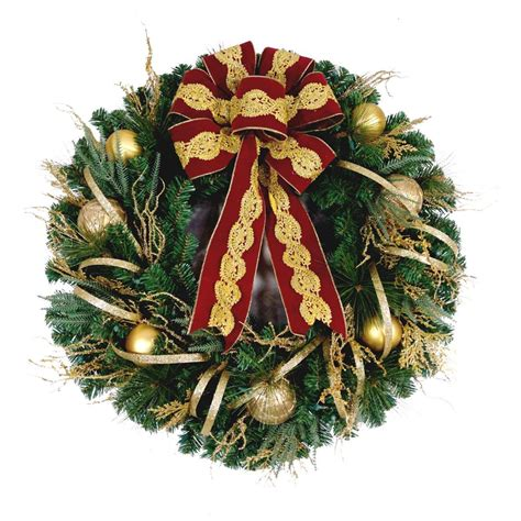 lighted door wreaths for christmas 48 in battery operated red accented artificial wreath