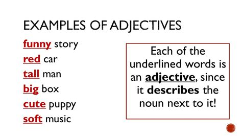 exle of adjective brought to you by powerpointpros ppt