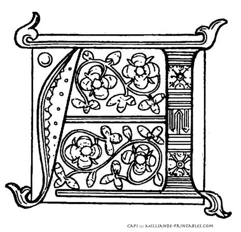 printable illuminated letters alphabet printable illuminated manuscript letters lettering styles