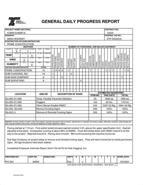 construction daily progress report template daily project report format in excel daily status report