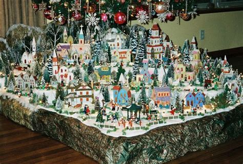 layout for christmas village christmas village putzes and train layouts submitted for 2005