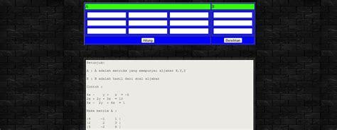 software untuk membuat web dengan php membuat program untuk mencari nilai x y z dan determinan
