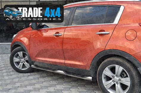 Kia Sportage Side Bars Kia Sportage Side Bars Steps Stainless Steel Chrome 76mm