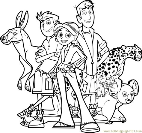 wild kratts team coloring page free wild kratts coloring