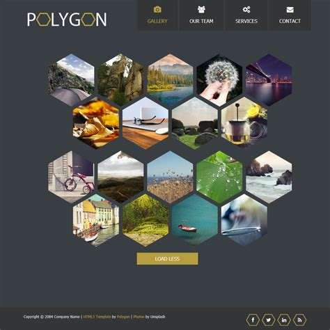 design online gallery template 400 polygon