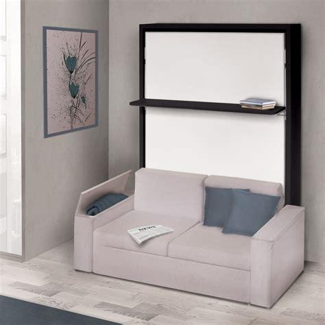 lit escamotable avec canape integre meuble armoire lit
