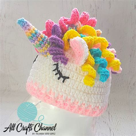 crochet pattern unicorn hat unicorn hat allfreecrochet com