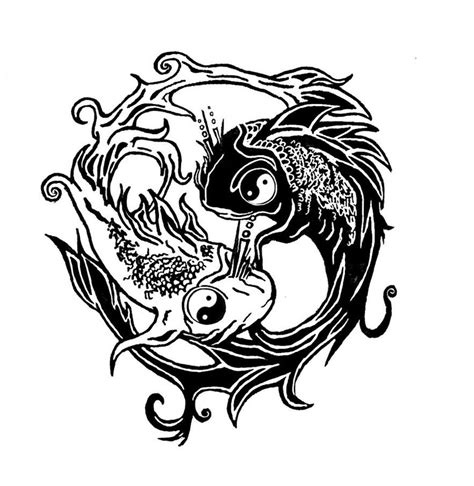 yin and yang tribal tattoos 30 yin yang fish designs