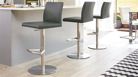 modern breakfast bar stools brushed stainless steel kitchen stools danetti uk