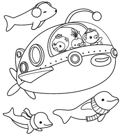 octonauts coloring pages free coloring pages of octonauts gup s