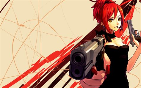 wallpaper anime girl with gun nice anime wallpapers in high quality