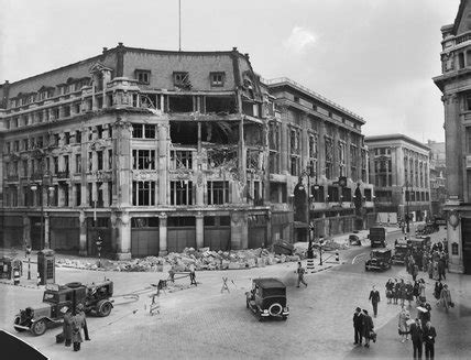 the damaged peter robinson department store at oxford