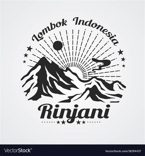 rinjani mountain royalty  vector image vectorstock