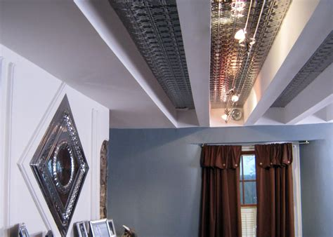 how to install tin ceiling how to install a tin and beam ceiling hgtv
