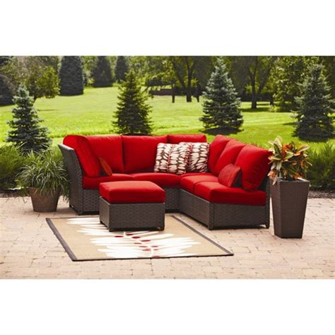 rushreed 3 piece outdoor sectional rushreed 3 piece outdoor sectional sofa set red seats 5
