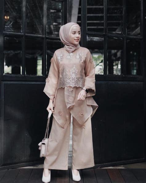 Setelan Kebaya Batwing Brokat Cape Silver 14 model setelan celana untuk kondangan til formal