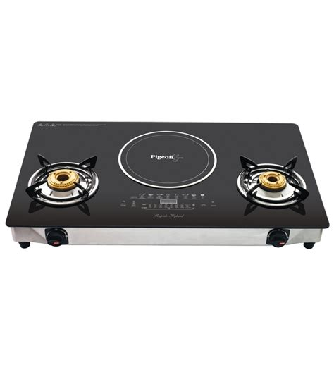 Flat Cooktop Pigeon Rapido Aspira Hybrid Induction Cooktop And Non