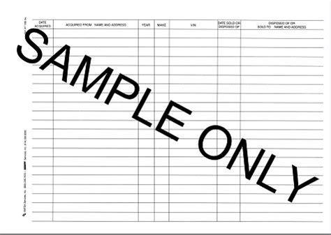 format logbook motor vehicle log book