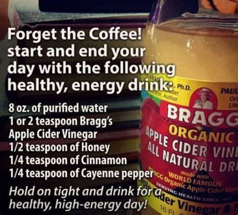8 energy drinks a day 25 best apple cider vinegar images on healthy