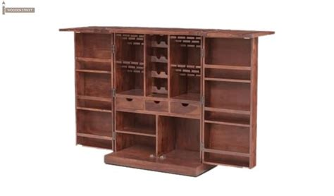 Large Bar Cabinet Auric Large Bar Cabinet Honey Finish