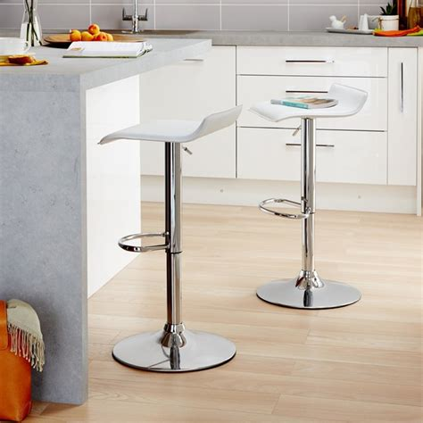 contemporary kitchen stools cooke lewis dante white bar stool contemporary bar