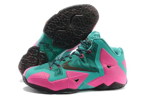 new lebron shoes nike lebron 11 pink new green black for sale new