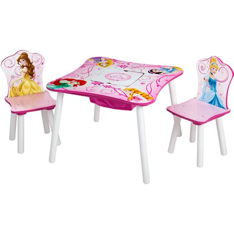 princess table and chair set disney princess storage table and chairs set walmart com