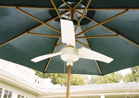 solar powered outdoor ceiling fan summer blast umbrella fan the green head