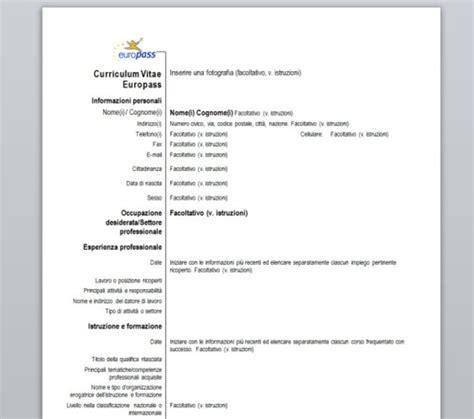 screenshots di curriculum vitae europeo da compilare m vitae europeo curriculum vitae europass download gratis