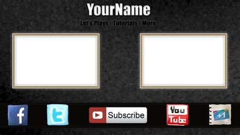 outro template maker free outro template 0003 2d paint net photoshop