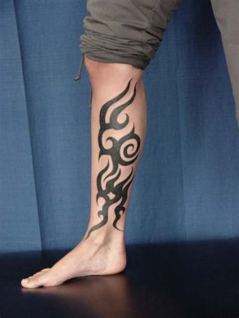tribal calf tattoos for men 26 fascinating tribal leg tattoos only tribal