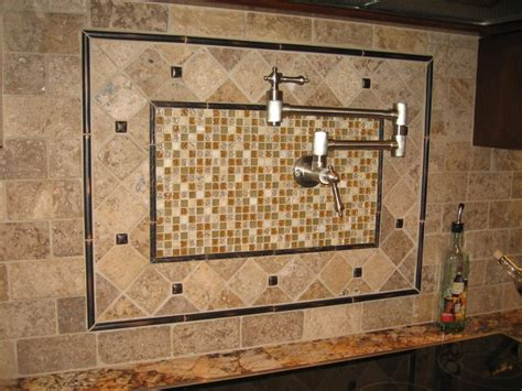 mosaic backsplash kitchen wall interior design ideas featuring lowe tiles