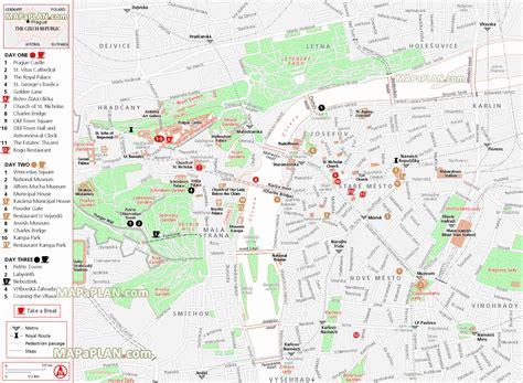 printable map prague maps update 21051488 prague tourist attractions map