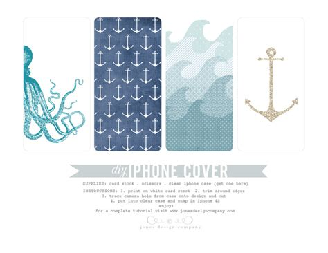 iphone cover design template free printable diy summer iphone covers jones design company