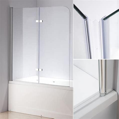 badewannen duschwand glas 140 cm glas duschabtrennung badewannenaufsatz badewanne