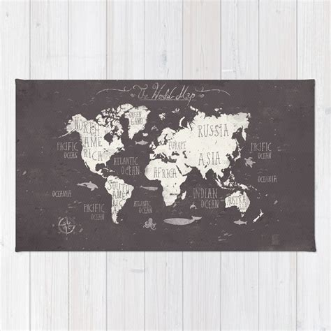 the world map rug by mikekoubou society6