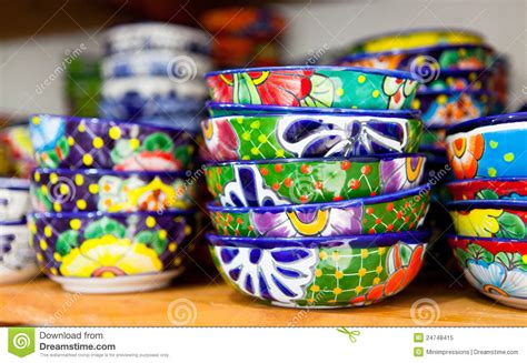 Colorfull Set set of colorful handmade dishes stock image image of
