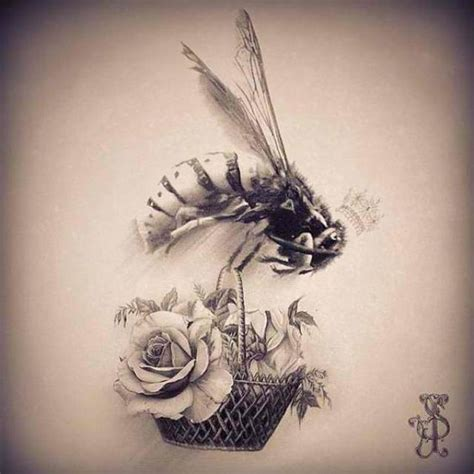 queen bee tattoo designs vintage bee queenbee roses inspiration