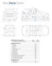 Renault Duster Technical Specifications Scheda Tecnica Dacia Duster 2014