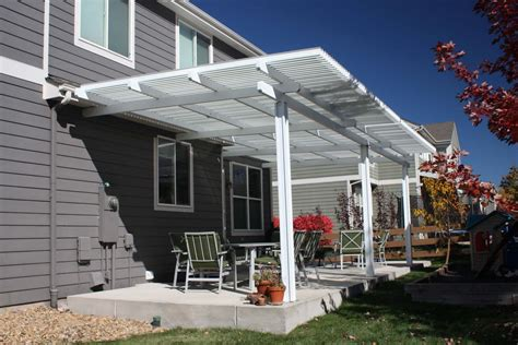 Pergola Attached To House with Gutters   Med Art Home