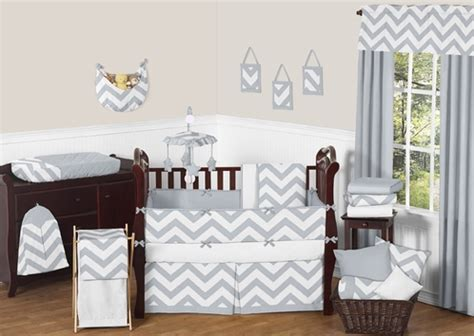 grey and white chevron bedding gray and white chevron zigzag baby bedding 9pc crib set by sweet jojo designs only