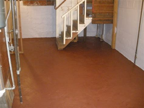 epoxy shield basement brown floor coating basement floor