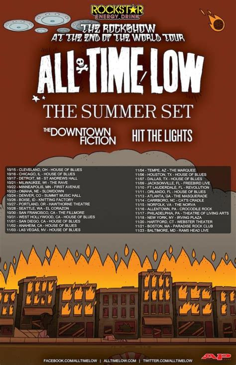 hit the lights tour all time low announce fall tour with the summer set the