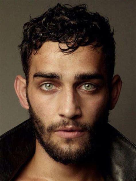 middle east men hair green eyed scruffy bearded young man bearded men
