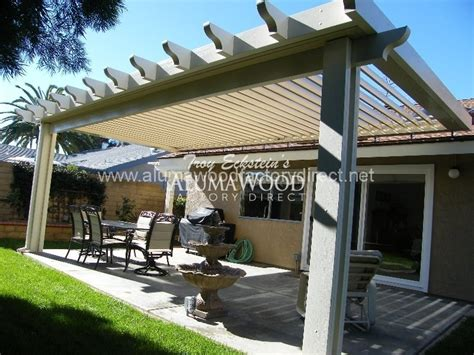 Gable Newport Flat pan Alumawood patio cover 126