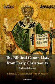 the biblical canon lists from early christianity edmon l